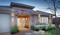 Red Ink Display Homes: The Tasman. Exterior House Colors, Exterior Design, My Home Design, House Design, Small House Exteriors, Entrance Design, House Elevation, Display Homes, Facade House