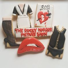 Rocky Horror Picture Show Cookies at https://www.facebook.com/customcookiesbyjill/photos/a.414024375299970.80725.313123538723388/950021565033579/?type=3