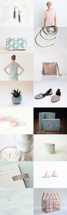 Blue and Peach by Rita on Etsy--Pinned with TreasuryPin.com