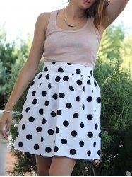#Gamiss - #Gamiss High Waisted Polka Dot Ruffled Skirt - AdoreWe.com