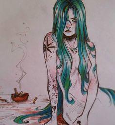 Gretlusky Dibujos Cute, Mermaid Art, Beautiful Drawings, Art Sketchbook, Art Inspo, Art Reference, Character Art, Fantasy Art, Cool Art