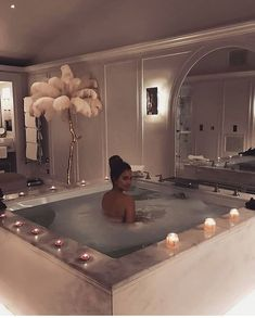 Uploaded by marie kanon. Find images and videos about bath, girl and luxury on We Heart It - the app to get lost in what you love. Dream Bathrooms, Dream Rooms, Bathtub Dream, Interior And Exterior, Interior Design, Luxury Interior, Interior Ideas, House Goals, My Dream Home