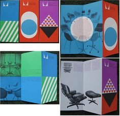 Vintage Herman Miller Early 1960's Brochures designed by Irving Harper Via Matthew Lyons Inspiration Tumblr