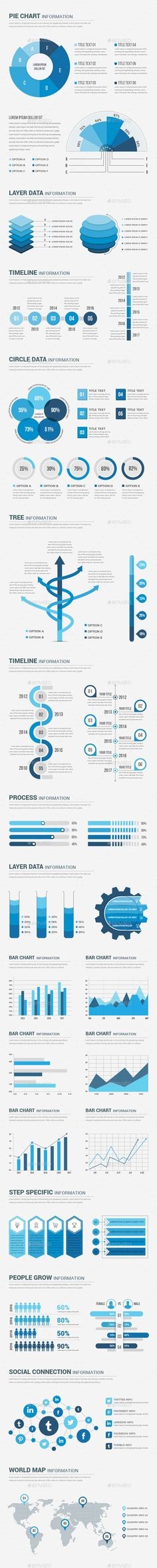 Buy Infographics Elements by Design_Sky on GraphicRiver. This is A set of conceptual elements to create your Infographic. You can used it all kind of your business, project, . Infographic Resume, Infographic Templates, Infographics Design, Data Charts, Charts And Graphs, Layout Design, Web Design, Graphic Design, Brand Fonts