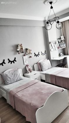 Teen girl bedrooms, pop to this reference for a truly simple room decor, example number 6478401619 Teenage Girl Bed, Twin Girl Bedrooms, Teen Bedroom, Jugendschlafzimmer Designs, Girl Bedroom Designs, Kids Room Design, Little Girl Rooms, Home Decor Bedroom, Bedroom Ideas