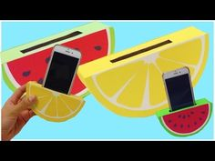 HOW TO MAKE a phone holder,easy DIY(watermelon,orange) - YouTube