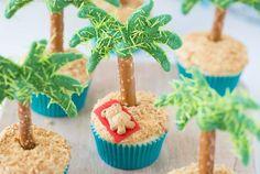 Palm Tree Cupcakes