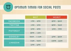 Do you own a business? Here's a list of some good times to use social media to promote your business or find customers and prospects.