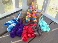 Crochet Curly Q Hair Ties : hair accessories on Pinterest Headband Pattern, Crochet Headband ...