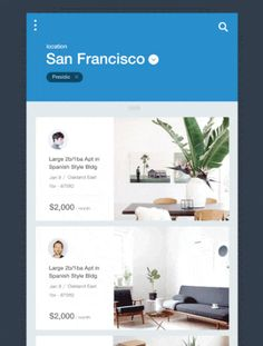 A photo of Houses for Rent app, Best Mobile Interaction Designs of 2016