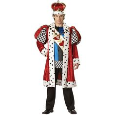This King of Hearts Men's Costume will turn heads and stop conversations when this savvy masquerader makes an entrance as this King of Hearts Elite Character; simply the finest quality, most complete adult costume on the market! This costume includes a fur-trimmed coat, sleeveless tunic, shoulder sash, deluxe crown and a medallion necklace (pants not included). This costume features exceptional fit and comes packaged in a deluxe zippered garment bag with color photo insert. When you're done…