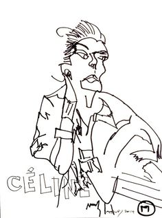 belle BRUT: Drawing again… #Celine #ThatIsAll © belle BRUT 2014