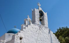Three crosses, church in Amorgos