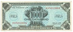 1000 LIRE - serie 1943 A - #scripomarket #scripobanknotes #scripofilia #scripophily #finanza #finance #collezionismo #collectibles #arte #art #scripoart #scripoarte #borsa #stock #azioni #bonds #obbligazioni