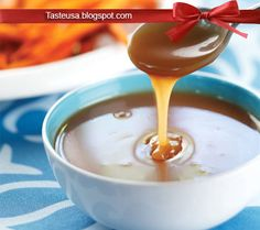 How to make Caramel Sauce Recipe - This is a quick and easy caramel sauce that is a great warm dipping treat to pair with Sweet Fries. French Fries Recipe, How To Make Caramel, Panna Cotta, Pudding, Treats, Ethnic Recipes, Sweet, Easy, Desserts