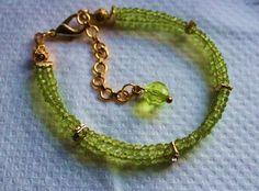 bombaybead | Products | bracelet | Peridot Pretty Bracelet