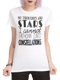 The Fault In Our Stars Thoughts Are Stars Girls T-Shirt ---I'M ALMOST DROWNING IN MY LOVE FOR THIS TOP!!!