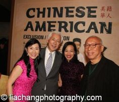Agnes Hsu-Tang, Oscar Tang, Lia Chang and Ping Chong at the opening reception of Chinese American: Exclusion/Inclusion at the New-York Historical Society on September 23,2014. Photo by Don Pollard