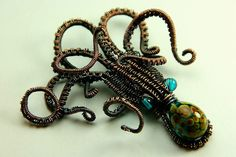 Copper wire weave octopus.  My entry to a wire weaving competition this month!