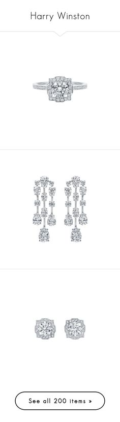 """Harry Winston"" by haikuandkysses ❤ liked on Polyvore featuring Harry_Winston, Harry_Winston_Jewelry, jewelry, rings, diamond, engagement ring, harry winston, earrings, jew and harry winston jewelry"