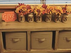 Thanksgiving jars! Perfect for your table center piece ❤️