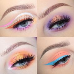 """Orange & Peach scream Spring to me, so here's a bunch of spring makeup looks I've done already for this warmer weather! All of these looks have tutorials…"""
