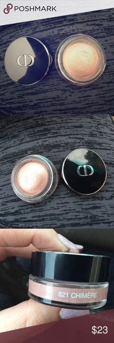 **SALE** Dior eyeshadow in Chimere Beautiful rose gold shimmery eyeshadow. Only used once for a swatch. Still has plastic coverslip that covers the eyeshadow. Christian Dior Makeup Eyeshadow