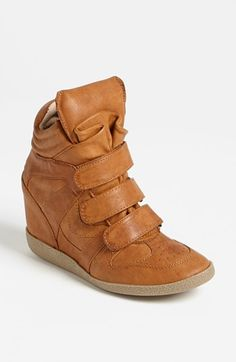 Steve Madden 'Hilight' Wedge Sneaker available at #Nordstrom. I love this color!