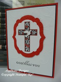 Confirmation Cross by Diane Malcor - Cards and Paper Crafts at Splitcoaststampers