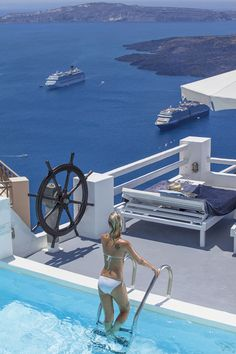 One of the finest luxury boutique hotels in Santorini,Greece  http://www.mediteranique.com/hotels-greece/santorini/on-the-rocks-santorini/