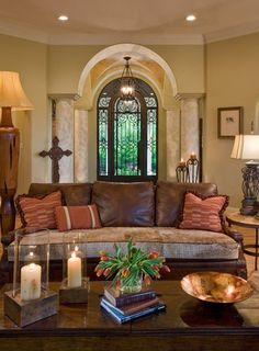 7 Interesting Clever Hacks: Living Room Remodel On A Budget Link living room remodel rustic couch.Livingroom Remodel Beautiful living room remodel on a budget families.Living Room Remodel With Fireplace Couch. Mediterranean Living Rooms, Mediterranean Decor, Italian Living Room, Mediterranean Architecture, Tuscan Decorating, Decorating Coffee Tables, Decorating Ideas, Living Room Designs, Living Room Decor