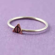 Harry Potter Stacking Ring Deathly Hallows by SpiffingJewelry