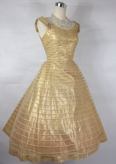 1950's Gold Lame Dress