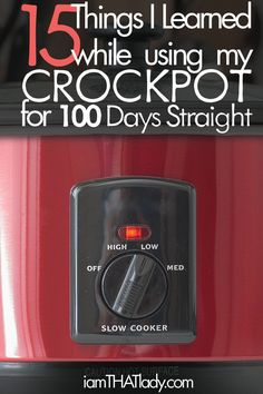 I used the crockpot