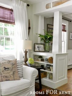 half wall with built ins