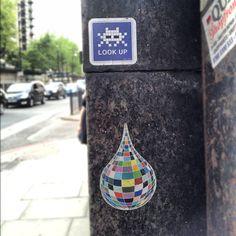 "@ahmedzew's photo: ""#invader #spaceinvader #sticker #slaps #discoball #art #streetart"""