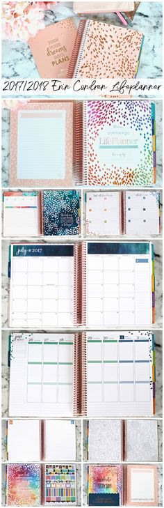 The 2018 Erin Condren LifePlanner is here! So many amazing updates and many beautiful new accessories as well! There are also 18 month and academic 2017/2018 Erin Condren LifePlanners available.