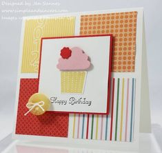 Simple. Just cut squares of paper and then all you need is a cupcake!