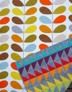 Modern and Colorful Patchwork Quilt by Red by redpepperquilts