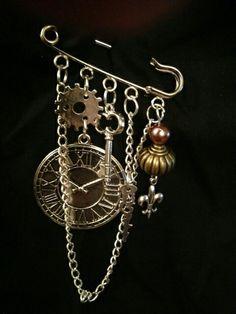 Steampunk kilt pin