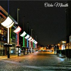 Good Night From Ireland.  Smithfield in the heart of Dublin is a fantastic area. This photo by @_claff_  shows it off at night. Great isn't it?
