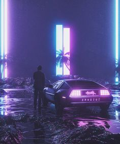 Project featuring some of my favourite Cyberpunk/Outrun/Vaporwave themed Daily Renders I made in