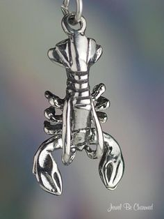 Lobster Charm Sterling Silver Lobsters Seafood Crustacean Movable. 14.95, via Etsy.
