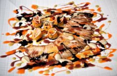A dish called skate Jackson Pollock at Belcanto, in Lisbon.