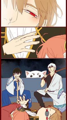 Read Chap 2 from the story Gintama Doujinshi by (¢_¢*Aki_chan*=_=) with reads. Anime Meme, Anime Guys, Manga Anime, Anime Art, Anime Love Couple, Cute Anime Couples, Okikagu Doujinshi, Memes Pt, Gintama Funny