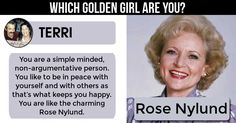 <b>Terri</b>, Age is just a number, and you follow that mantra. You are strong,bold, wise and young at heart just like the Golden Girl. Share this and let everyone know how awesome you are.