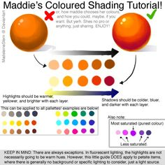 "artist-refs: "" Coloured Shading Tutorial - How to pick a palette by *MadeleineStern """