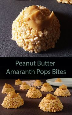 Peanut Butter Amaranth Pops Bites. Balls, bites, healthy, amaranth, ancient grains, dessert, recipe, kid friendly, no bake, homemade, easy, snacks. No Bake Desserts, Easy Desserts, Dessert Recipes, Frugal Meals, Kids Meals, Amaranth Grain, Dessert Names, Peanut Butter, Great Recipes