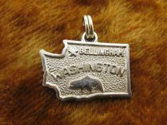 Vintage Sterling Silver Bellingham Washington State Charm - Kinney
