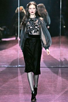 Gucci Fall 2012 Ready-to-Wear Fashion Show - Kati Nescher
